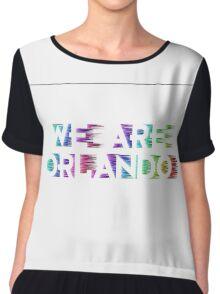 We Are Orlando Shirts, Bumper Stickers & Mugs Chiffon Top