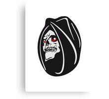Death hooded halloween Canvas Print