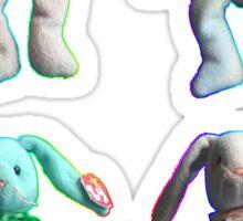 Rainbow Beanie Baby Bunnies Sticker
