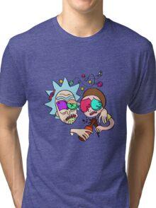 Rick And Morty Drunk Tri-blend T-Shirt