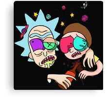 Rick And Morty Drunk Canvas Print