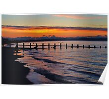 Sunset At Portobello Poster
