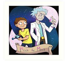 Rick And Morty Genius Art Print