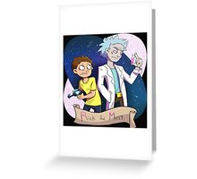Rick And Morty Genius Greeting Card