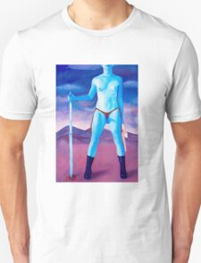"Frightened Little Boys Rule the World, original acrylic on canvas, 60""x42"" T-Shirt"
