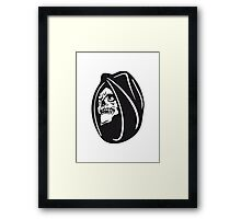 Death hooded halloween Framed Print