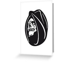 Death hooded halloween Greeting Card