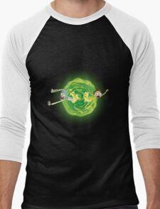 Rick And Morty Spin Men's Baseball ¾ T-Shirt