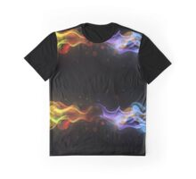 Red and Blue Fire Graphic T-Shirt
