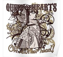 Queen of Hearts Carnivale Style Poster
