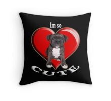 Stafordshire Bull Terrier Throw Pillow