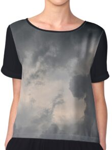 Fluffy stormy clouds. Chiffon Top