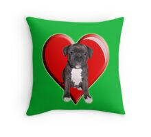 Staffy puppy Throw Pillow