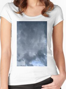 Fluffy stormy clouds. Women's Fitted Scoop T-Shirt