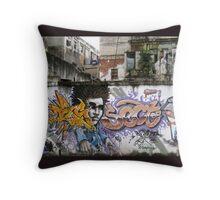 Graffiti,  Havana, Cuba Throw Pillow