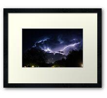 Neighborhood Storm Framed Print