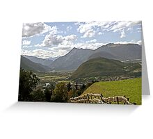 Inn Valley in Tyrol, Austria Greeting Card