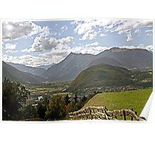 Inn Valley in Tyrol, Austria Poster
