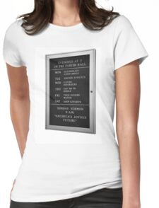 America's Joyous Future sign Womens Fitted T-Shirt