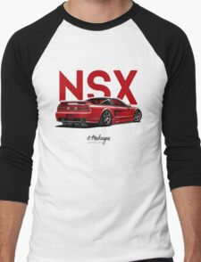 Acura / Honda NSX (red) Men's Baseball ¾ T-Shirt