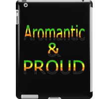 Aromantic and Proud (black bg) iPad Case/Skin