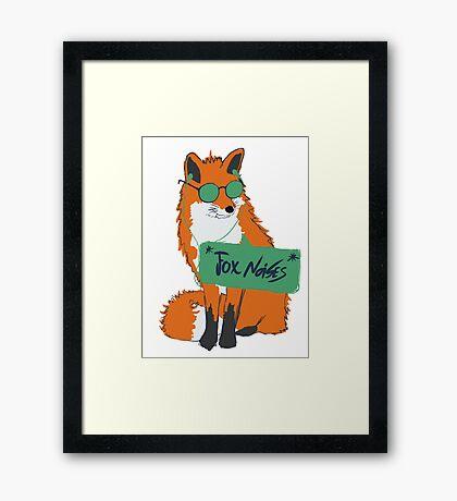 Fox Noises Framed Print