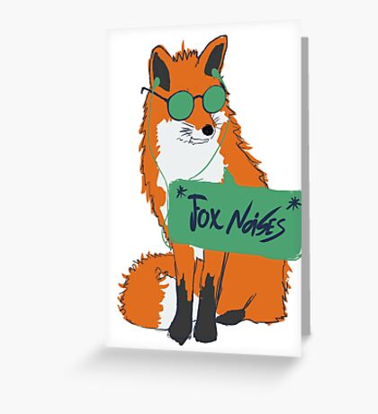 Fox Noises Greeting Card