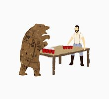 Man Beer Pong with The Bear T538  Classic T-Shirt