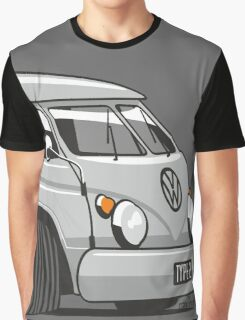 VW T1 panel van cartoon grey Graphic T-Shirt