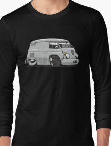 VW T1 panel van cartoon grey Long Sleeve T-Shirt