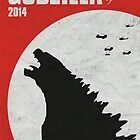 Godzilla 2014 poster by Sam Mobbs