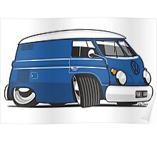 VW T1 panel van cartoon blue Poster