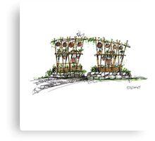 Village Gate 01 - Sketch Canvas Print