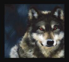 Red Eyed Wolf Kids Tee