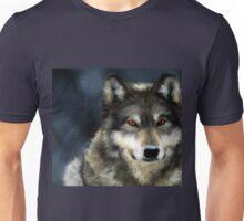 Red Eyed Wolf Unisex T-Shirt