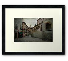 Calles de Segovia Framed Print