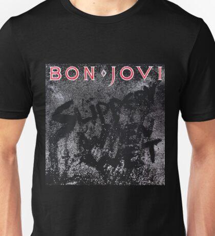 BON JOVI SLIPPERY WHEN WET COVER BEST Unisex T-Shirt