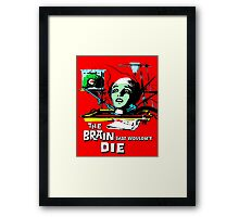 The brain that wouldn't die colour Framed Print