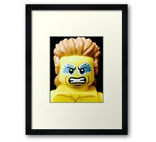 Lego Wrestling Champion Framed Print