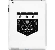 modern gentleman hockey club iPad Case/Skin