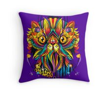 Galactic Cat Throw Pillow