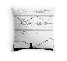 Laika the Space Dog Pillow Throw Pillow