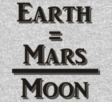 Earth Equals Mars Over Moon One Piece - Short Sleeve