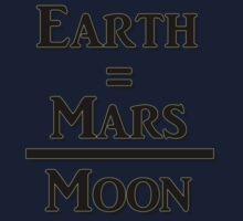 Earth Equals Mars Over Moon Kids Tee
