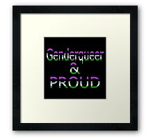 Genderqueer and Proud (black bg) Framed Print
