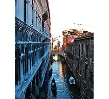 View from the Bridge of Sighs, Venice Photographic Print