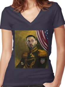 Clint Dempsey Women's Fitted V-Neck T-Shirt