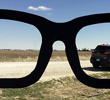 Buddy Holly Glasses With Jeep Cherokee by Elizabeth  Lilja
