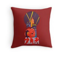 Akira Motorcycle Throw Pillow