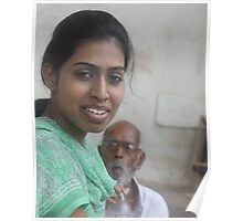 Indian Woman and Family Member Poster